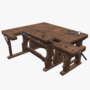 3D workbench work bench model