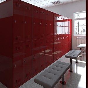3D locker room lock model