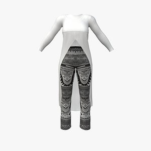 3D model Tail Top and Separatable Leggins