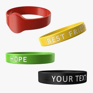 3D Rubber Bracelets Collection model