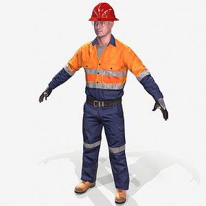 3D mining workman