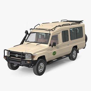 3D model Toyota Land Cruiser Safari Beige Clean Rigged