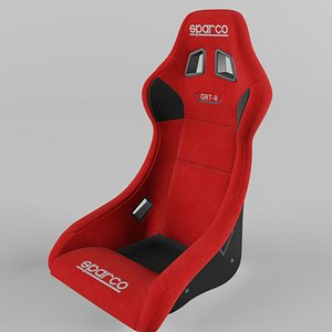 3D Sparco QRT-R Sports Racing Seat Suede Red