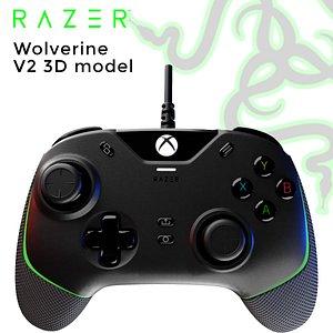 3D Razer Wolverine V2 3D model