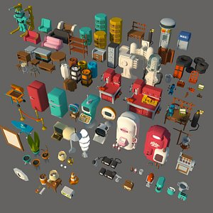 post-apocalypse workbenches 3D model