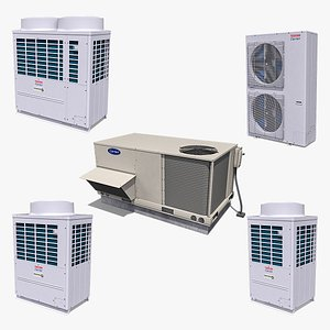 3D Outdoor Air Conditioning Units Collection model