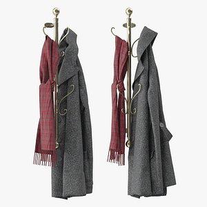 wall mounted coat 3D