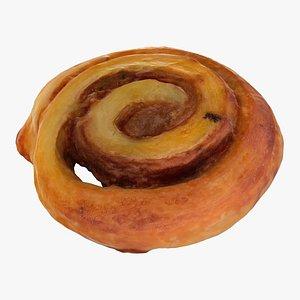 croissant cinnamon 3D