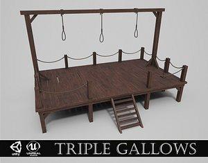 Medieval Triple Gallows model