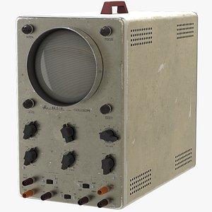 3D vintage oscilloscope heathkit o-8