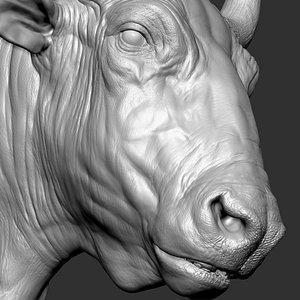 3D Bizon  Bison bison most VFX Zbrush Sculpture Digitale model