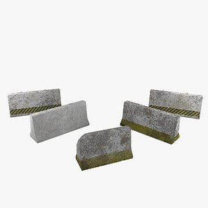 concrete barrier 3D model