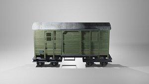 3D german workshop railcar