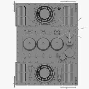 iii e-75 engine 3D