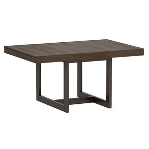 archive square extension dining table 3D model