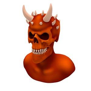 3D Devil head skull model