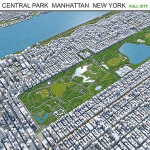3D Central Park  Manhattan  New York