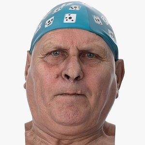 3D Homer Human Head Chin Raiser AU17 Clean Scan model