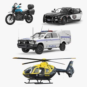 rigged police transport 2 3D model