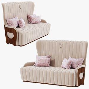 Carpanelli Contemporary 45-1 DI38 GALILEO 3 seaters sofa 3D model