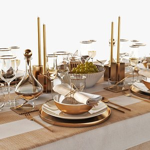3D model table setting