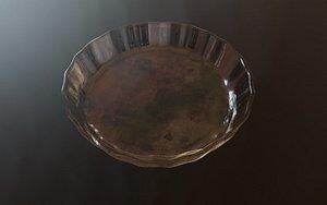 3D model glass saucer