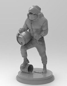 3D model siberian killer whaleman
