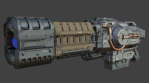 plasma sci fi 3D model