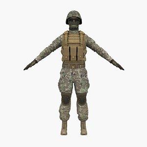marine soldier model