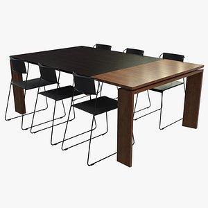 3D dining table set modern
