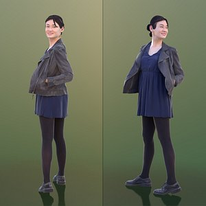 3D model woman young turning