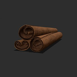 3D sticks cinnamon model