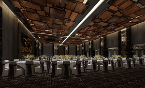 Banquet Hall Hotel Annual Wedding Catering 3D