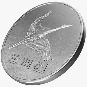 South Korea 500 Won 2006 Coin 3D