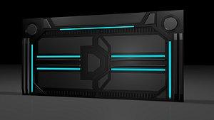 sci fi door model