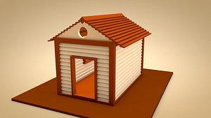 3D shack architecture building