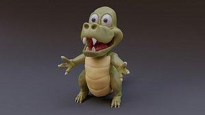 cartoon crocodile 3D