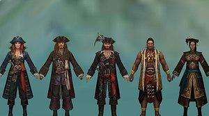 pirates caribbean pack - 3D model