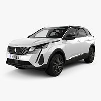 Peugeot 3008 hybrid4 with HQ interior 2020