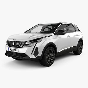 3D Peugeot 3008 hybrid4 with HQ interior 2020