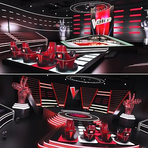The Voice Tv Studio Collection 3D model