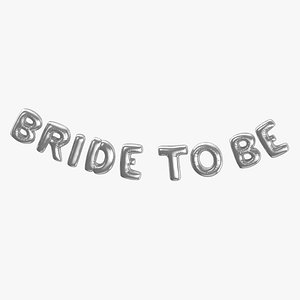 Foil Baloon Words Bride to be Silver model