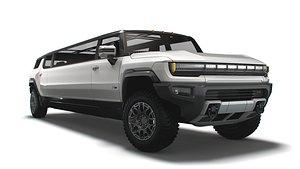 GMC   Hummer  EV  SUV   Limousine  2024 3D model