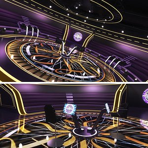 futuristic tv millionaire studio 3D