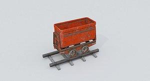 3D Mine Wagon 3