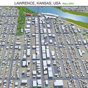 3D Lawrence Kansas USA