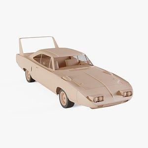 3D 1970 Plymouth RoadRunner Superbird