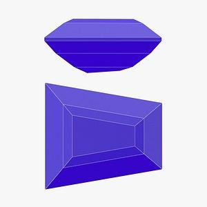 Keystone Gemstone - Printable 3D model