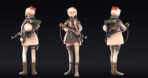 3D model Post Apocalyptic Girl