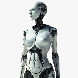 3d max female cyborg elettra